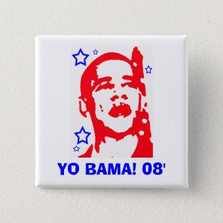 Yo Bama! ' ster 08 Vierkante Button 5,1 Cm