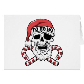 Yo ho ho - piraatsanta - de grappige Kerstman Briefkaarten 0