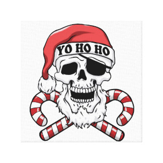 Yo ho ho - piraatsanta - de grappige Kerstman Canvas Afdruk