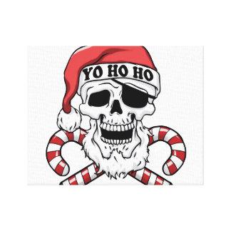 Yo ho ho - piraatsanta - de grappige Kerstman Canvas Afdrukken