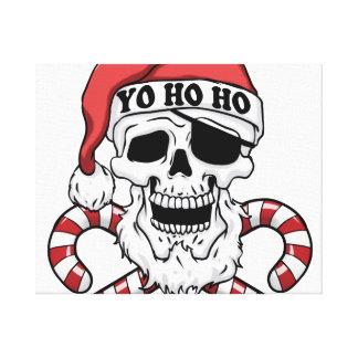 Yo ho ho - piraatsanta - de grappige Kerstman Canvas Print