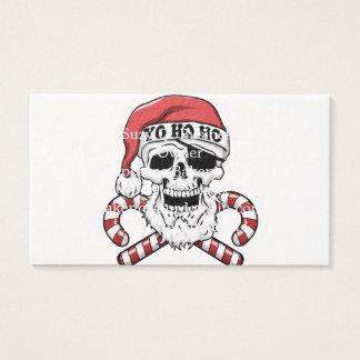 Yo ho ho - piraatsanta - de grappige Kerstman Visitekaartjes