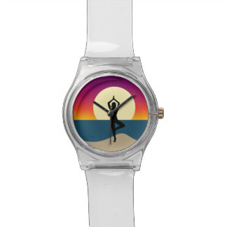 Yoga bij Zonsondergang Horloge