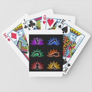 yoga en meditatiesymbolen pak kaarten