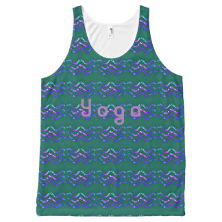yoga golven All-Over-Print tank top