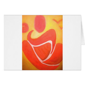 Yoga in sinaasappel wenskaart