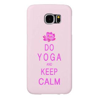 Yoga met de Bloem van Lotus Samsung Galaxy S6 Hoesje