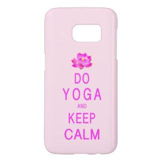 Yoga met de Bloem van Lotus Samsung Galaxy S7 Hoesje