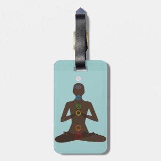 Yoga zeven Chakras stelt de Labels van de Bagage v