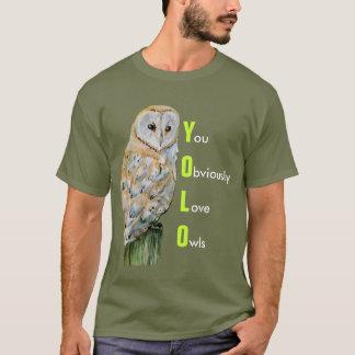 YOLO de uilwaterverf van de Schuur T Shirt