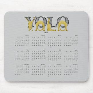 YOLO flexibele ponykalender 2014 Muismat