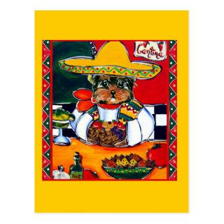 Yorkie Poo Cinco DE Mayo Briefkaart