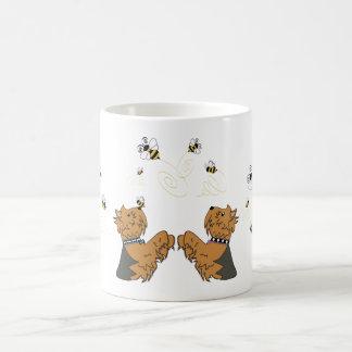Yorkies en bijen koffiemok