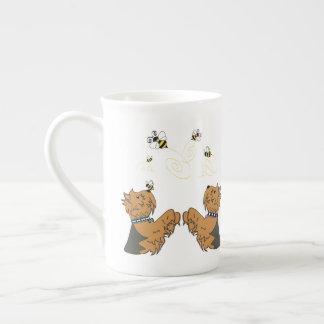 Yorkies en bijen theekop