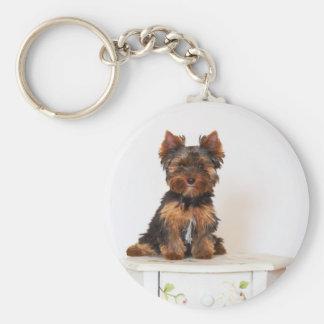 Yorkshire Terrier Basic Ronde Button Sleutelhanger