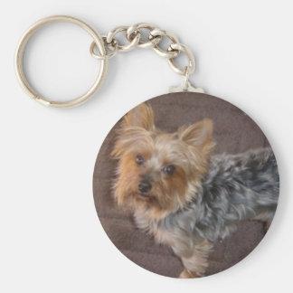 Yorkshire Terrier keychain Basic Ronde Button Sleutelhanger