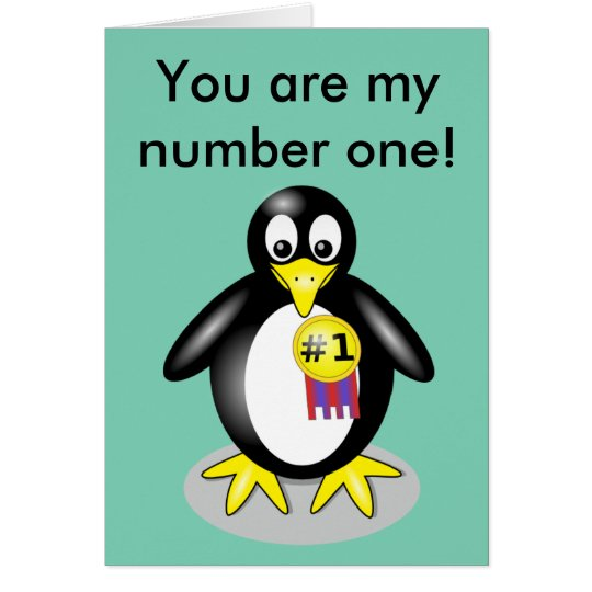 You are my number one! briefkaarten 0