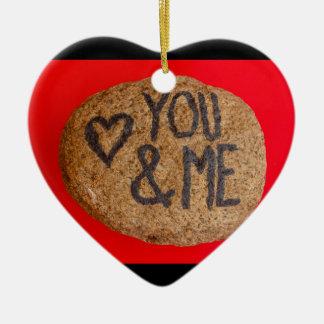 YOU&ME op hartornament Keramisch Hart Ornament