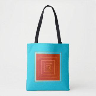 Yummy Aqua en de Oranje/Rode >Trendy Canvas tassen