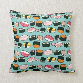 Yummy Geïllustreerde Patroon van Sushi Pret Sierkussen