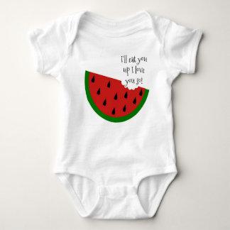 Yummy in mijn Overhemd van het Baby van de Romper