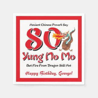 Yung Geen Mo tachtigste Verjaardag Wegwerp Servet