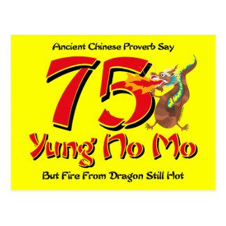 Yung Geen Mo vijfenzeventigste Uitnodiging van het Briefkaart