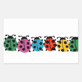 YY- het kleurrijke Art. van Lieveheersbeestjes Rechthoekige Sticker