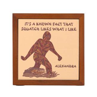 Z Bigfoot die Feiten Sasquatch lopen Grappige Pennenhouder