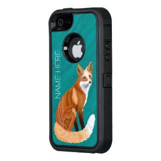 Z de Rode Retro Stijl van de Vos iphoneSE OtterBox Defender iPhone Hoesje