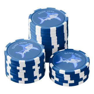 Z het Blauwe Grote Witte Dier van het Zee van de Pokerchips