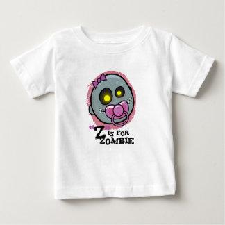 """""""Z"""" is voor de T-shirt van het Baby van de Zombie"""