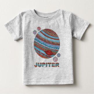 Z Planeet Jupiter en de RuimteMode Geek van Manen Baby T Shirts