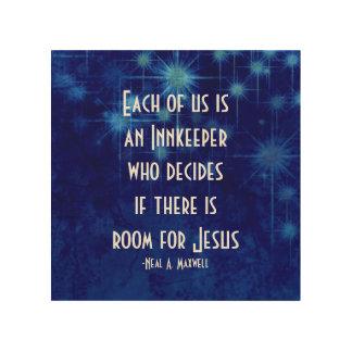 Zaal voor Jesus Inspirational Quote Hout Afdruk