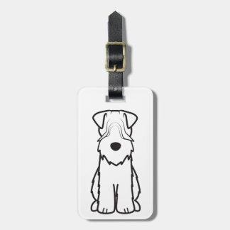 Zacht Met een laag bedekt Wheaten Terrier Bagagelabel