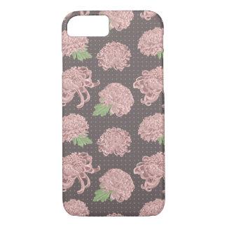 Zacht Roze Naadloos Patroon Chrysantemum iPhone 8/7 Hoesje