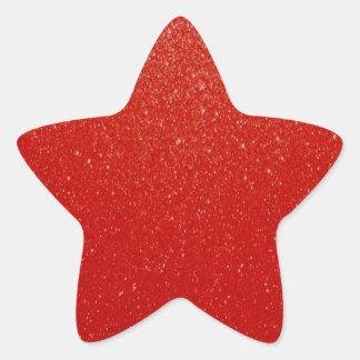 Zachte Donkerrood schittert Ster Sticker