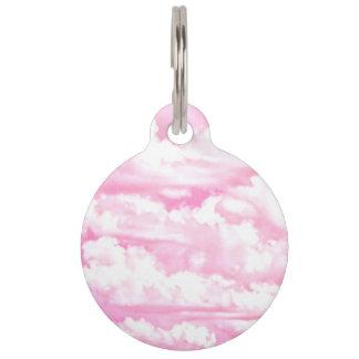 Zachte Fuchsiakleurig Roze Wolken Girly Huisdierpenning