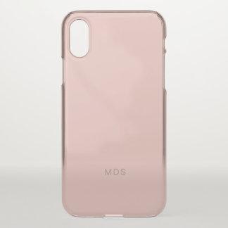 Zachte Millennial nam Roze toe iPhone X Hoesje