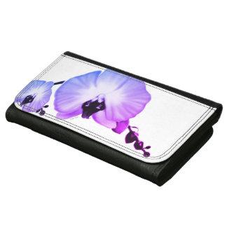Zachte Orchideeën Leren Portemonnee Voor Vrouwen