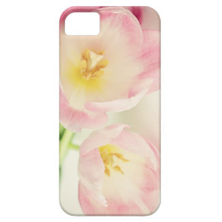 Zachte Vintage Roze Tulpen Barely There iPhone 5 Hoesje