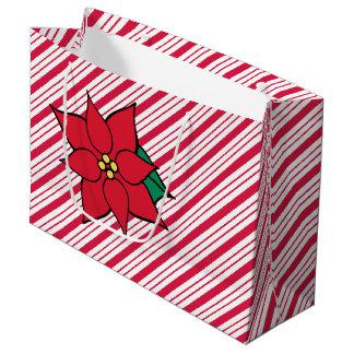 Zak van de Gift van de Poinsettia van Kerstmis van Groot Cadeauzakje