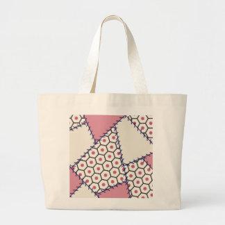 Zak van het lapwerk nam roze met stiphoningraat to canvas tassen