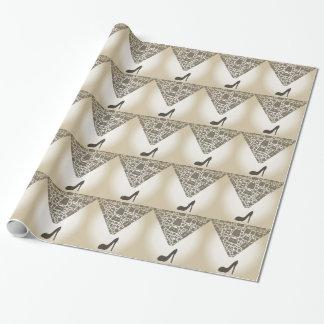 Zak van schoen inpakpapier