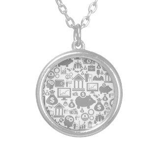 Zaken een background7 zilver vergulden ketting