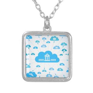 Zaken een cloud3 zilver vergulden ketting