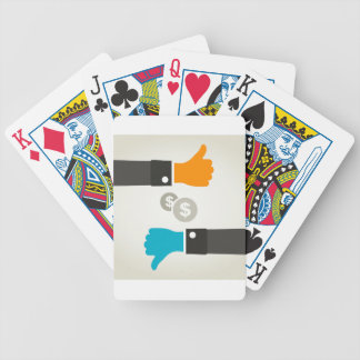 Zaken een hand poker kaarten