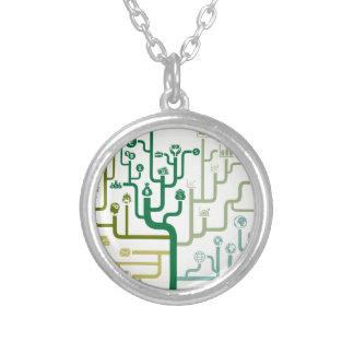 Zaken een labyrint zilver vergulden ketting