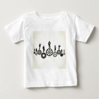 Zaken een toestelwiel baby t shirts