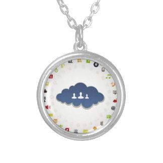 Zaken een wolk zilver vergulden ketting